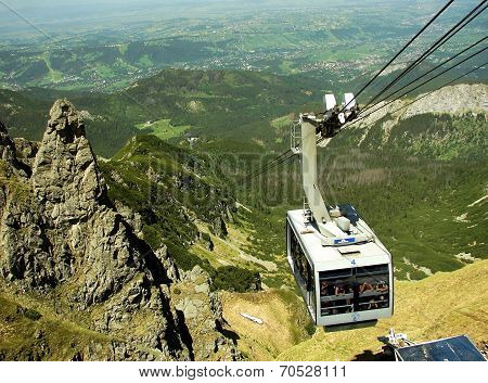 Tatra mountains in Poland, near city Zakopane, funicular