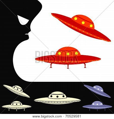 Ufo. Set Of Objects