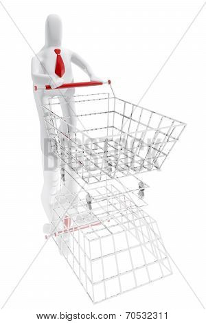 Character With Shopping Cart