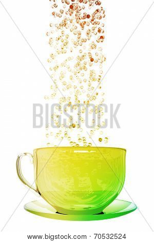 Bubbles And Coffe Cup