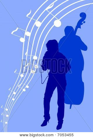 Singing girl and bass