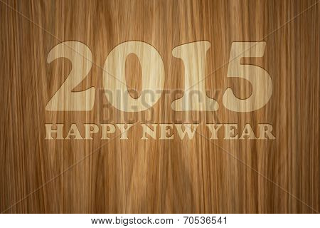 A beautiful wooden background with text 2015 Happy New Year