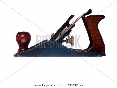Woodworking Hand plane isolated on white