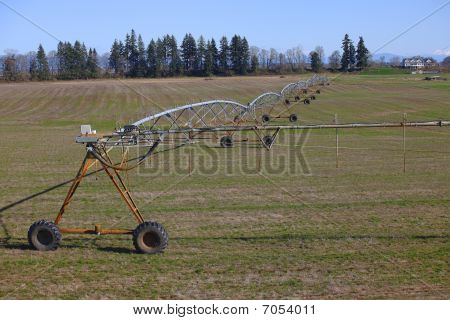 Mobile irrigation system.