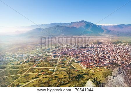 The Kalabaka town, view from monastery