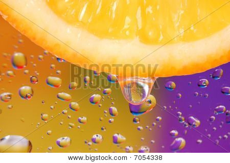 Fresh Lobule Of Orange