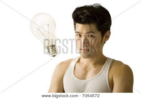 Asian Man Light Bulb