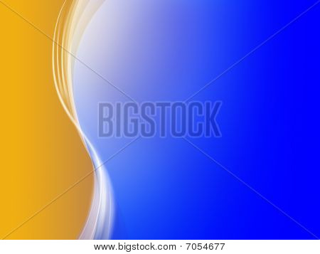 Abstract Orange Blue Background