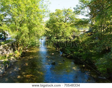 Elterwater river Lake District Cumbria valley of Great Langdale
