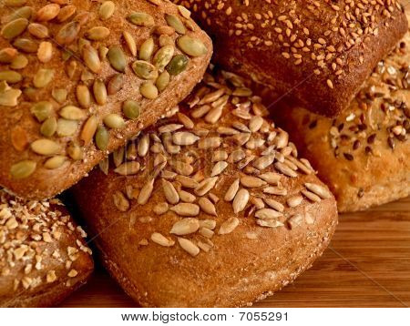 Assortment Of Multi-grain Bread Rolls