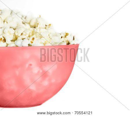 pop corn in pink pucket