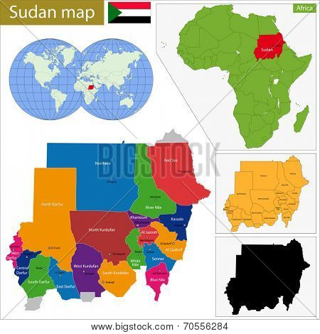 Administrative division of the Republic of the Sudan.