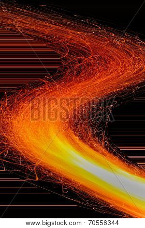 Fire and Flame Background - Flaming Sparkle Heat