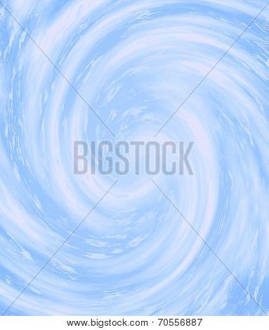 Cute Windy Spiral In Blue