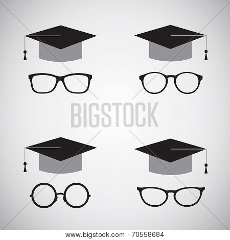 Vector image of an hat and glasses.