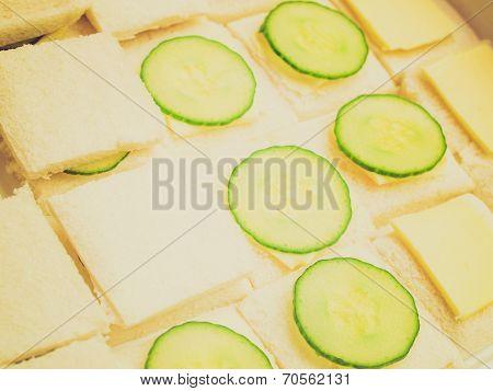 Retro Look Cucumber Sandwich