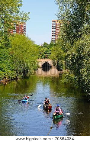 Canoes on River Tame, Tamworth.