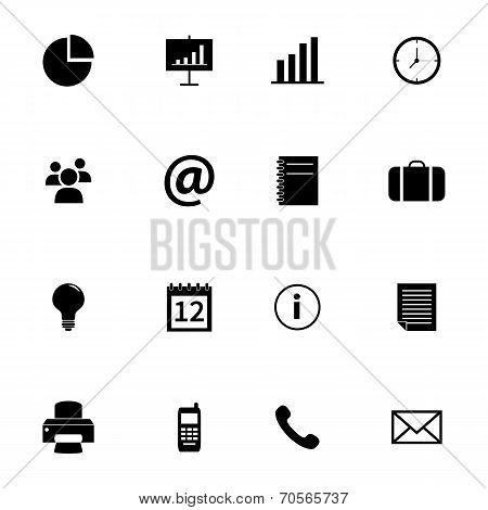 Set of flat icons - office and business