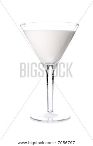 Milk Cocktail In Martini Glass