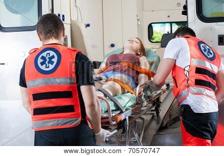 Woman In Ambulance