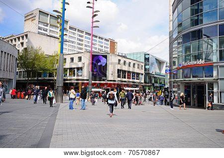 New Street Shops, Birmingham.
