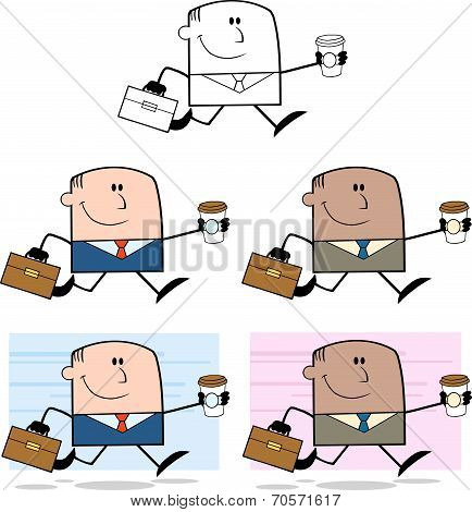 Businessman Dude Cartoon Character 1  Collection Set