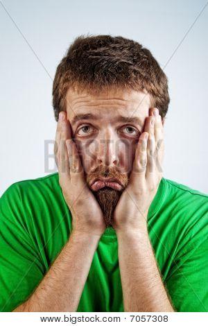Sad Unhappy Bored Depressed Man