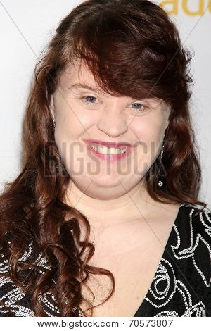 LOS ANGELES - AUG 22:  Jamie Brewer at the Television Academy�¢??s Producers Peer Group Reception at London Hotel on August 22, 2014 in West Hollywood, CA