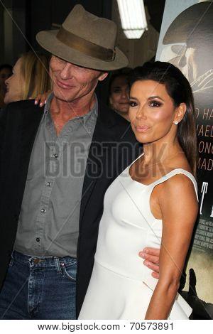 LOS ANGELES - AUG 21:  Ed Harris, Eva Longoria at the