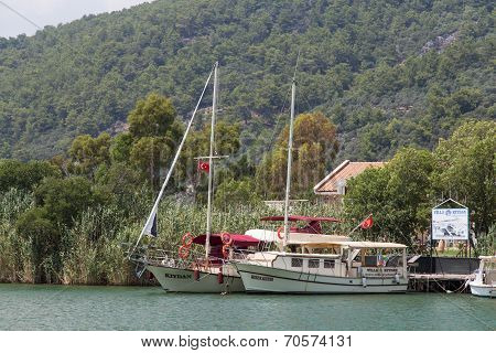 Yachts In Dalyan