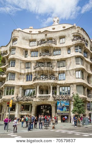 The Casa Mila, better known as La Pedrera, in Barcelona, Spain