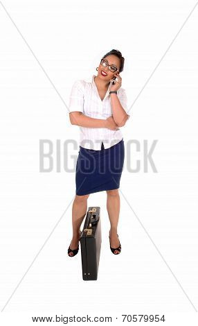 Business Women Talking On Phone.