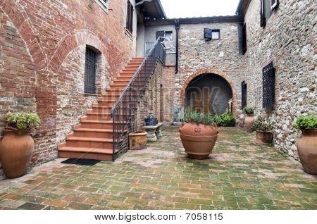 Courtyard Of Tuscan Agritourism