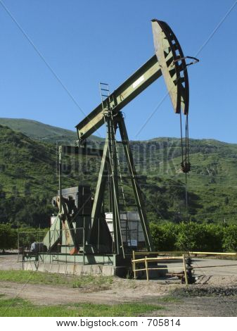 Oil Well In Ojai, California