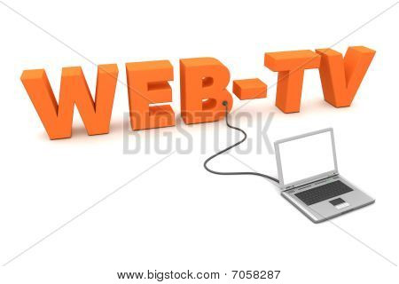 Laptop Wired To Orange Webtv