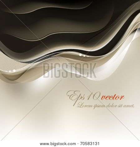 eps10 vector elegant flowing element background