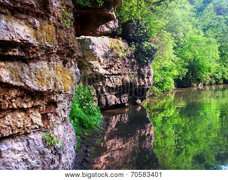 Yellow River In Krape Park Illinois