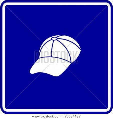 baseball cap sign