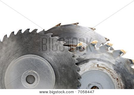 Three Sawblades On White Background
