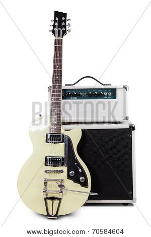 Electric Guitar With Amplifier