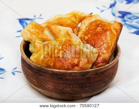Pastries In A Ceramic Bowl