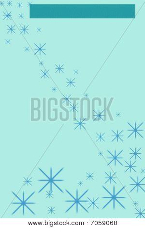 Falling Blue Stars Stationary