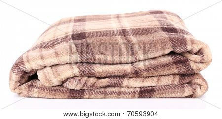 Warm plaid, isolated on white