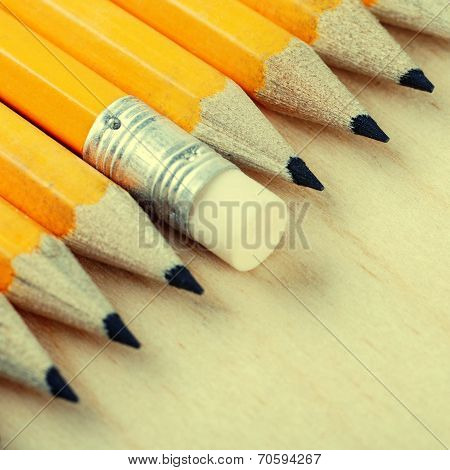 Diagonal Group Of Pencils And Eraser