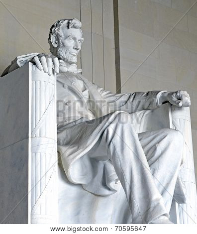 Abraham Lincoln Statue, Lincoln Memorial, Washington DC, USA