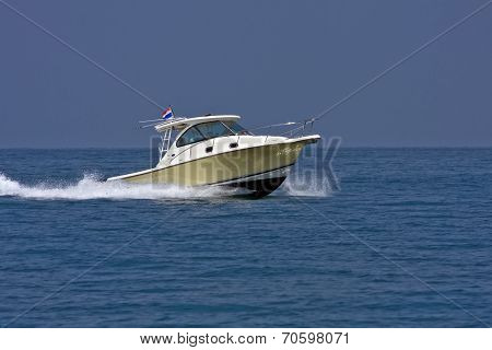 Speedboat With Thai Flag