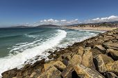 picture of tarifa  - Beach landscape in the city of Tarifa, Spain.