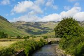picture of dungeon  - Beautiful Lake District river Mickleden Beck Langdale Valley by Old Dungeon Ghyll Cumbria England United Kingdom UK by campsite - JPG