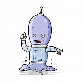 stock photo of spaceman  - cartoon alien spaceman - JPG