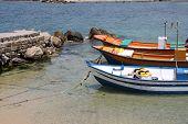 Fisherboats in Caesarea. Israel